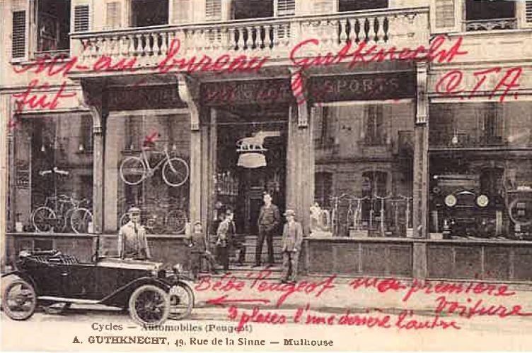 Premiers bureaux CTA rue de la Sinne à Mulhouse